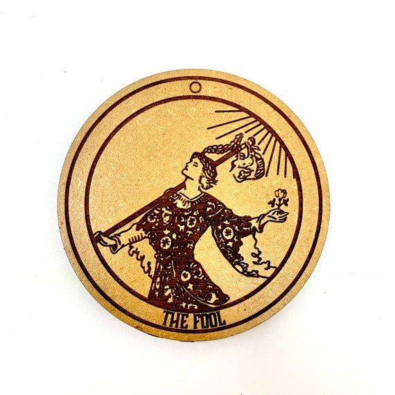 Tarot 00 - The Fool - Drink Coaster Set, FREE SHIPPING