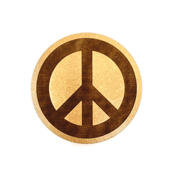 Hippie Peace Symbol Drink Coasters Set, FREE SHIPPING