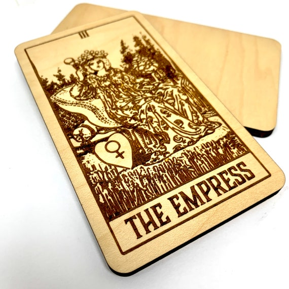 03 The Empress - Wood Tarot Card, Free Shipping