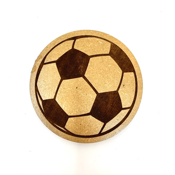 Drink Coasters - Soccer Ball Wood Drink Coaster Set Home Decor Unique Gifts Housewarming Gift