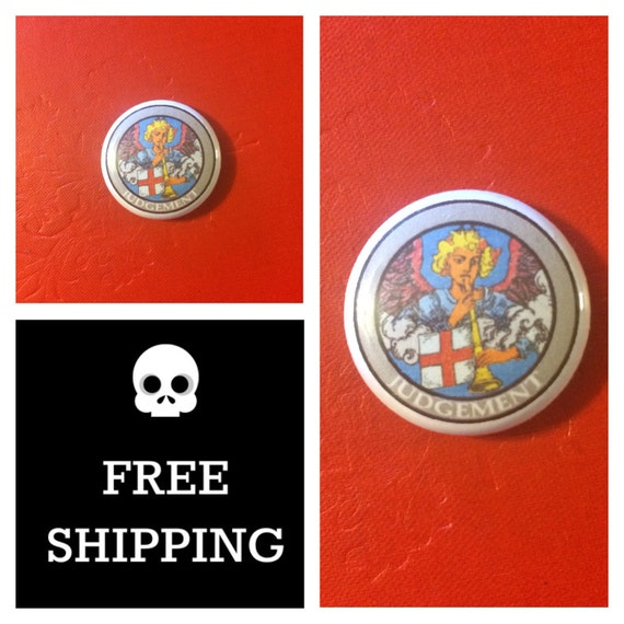 Tarot Card - Judgement Button Pin, FREE SHIPPING