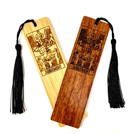 Wood Bookmark - Tarot 20 - Judgement - Bookmarks Bamboo or Rosewood, Engraved Real Wood Gift for Students or Friend