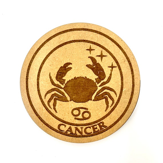 Cancer - Astrology Star Sign - Drink Coaster Set, FREE SHIPPING
