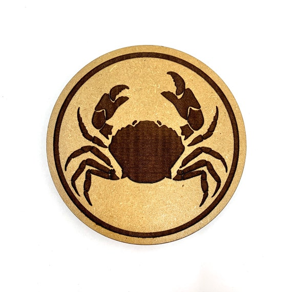 Crab Drink Coasters Set, FREE SHIPPING