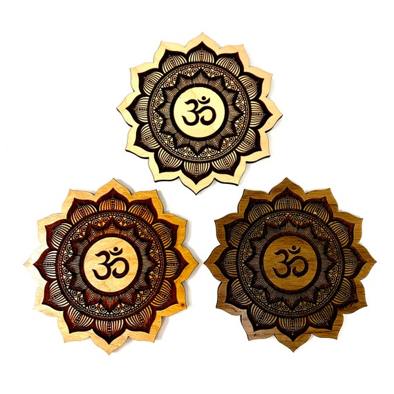 Om Aum Symbol Flower Mandala Design Incense Stick Holder - FREE SHIPPING