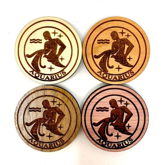 Fridge Magnet - Aquarius Astrology Star Sign Astrological Zodiac Symbols Strong Heavy Refrigerator Magnets for Home KitchenArt