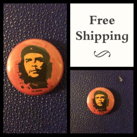 Che Guevara, Communist Revolution Button Pin, FREE SHIPPING