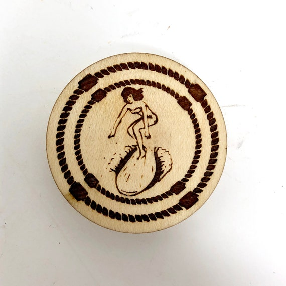 Wood Magnet - Surfer Girl Fridge Magnet, FREE SHIPPING