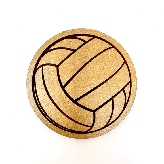 Drink Coasters - Volleyball Wood Drink Coaster Set Home Decor Unique Gifts Housewarming Gift