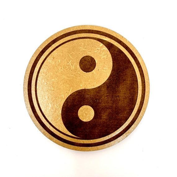 Yin Yang Symbol Drink Coasters Set, FREE SHIPPING