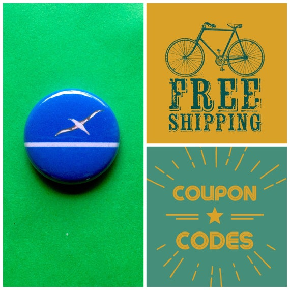 Midway Islands US Territory Flag Button Pin or Magnet, FREE SHIPPING