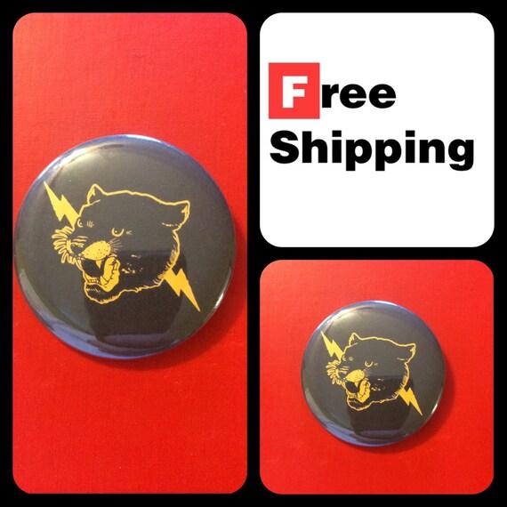 Cougar Lightning Button Pin, FREE SHIPPING