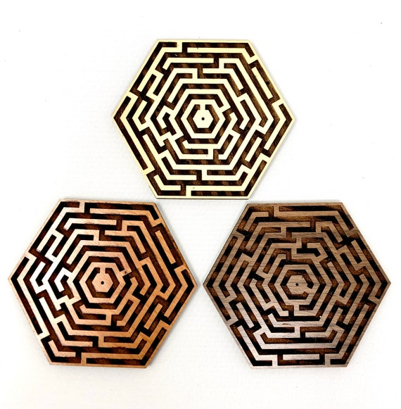 Labyrinth Maze Hex Incense Holder, FREE SHIPPING