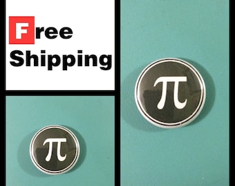 Pi Symbol 3.14159265359 Math Button Pin, FREE SHIPPING & Coupon Codes