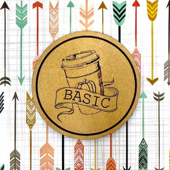 "Pumpkin Spice Latte ""Basic"" Coasters Set, FREE SHIPPING & Bulk Rate Discount"