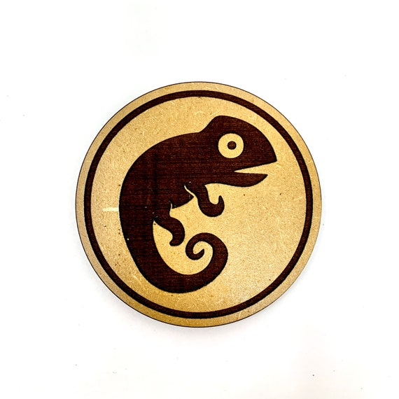 Gecko Drink Coasters Set, FREE SHIPPING