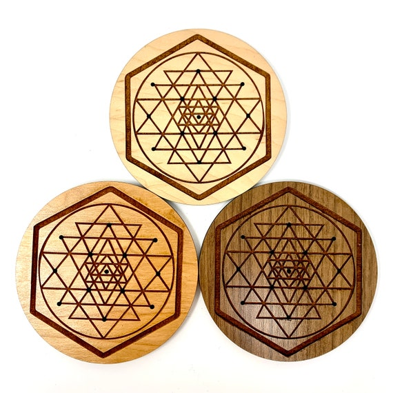 Sri Yantra Sacred Geometry Incense Holder, FREE SHIPPING