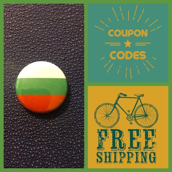 Bulgaria Flag Button Pin, FREE SHIPPING