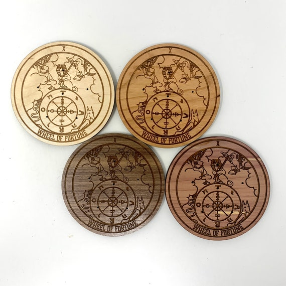 Incense Holder - Tarot Card 10 Wheel of Fortune Incense Burner for Incense Sticks,  Wood Incense Stick Holders Aromatherapy Meditation Aid