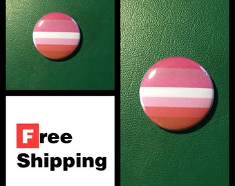Lesbian Pride Flag - LGBT Button Pin, FREE SHIPPING & Coupon Codes