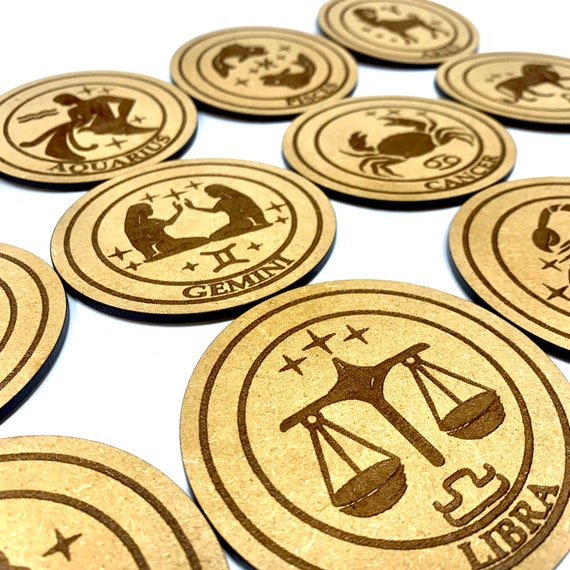 Astrology Star Sign - 12 Drink Coaster Set, FREE SHIPPING