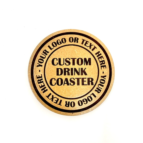 Custom Made Drink Coaster Set - Your Logo, Your Design, Your Text -  FREE SHIPPING