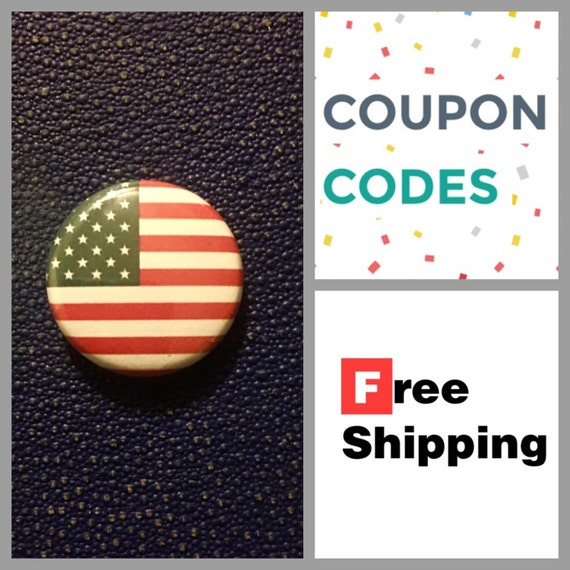 American Flag Button Pin, FREE SHIPPING