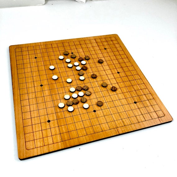 Cherry Wood Go Board w/ Walnut and Maple Game Pieces, All Wood, FREE SHIPPING