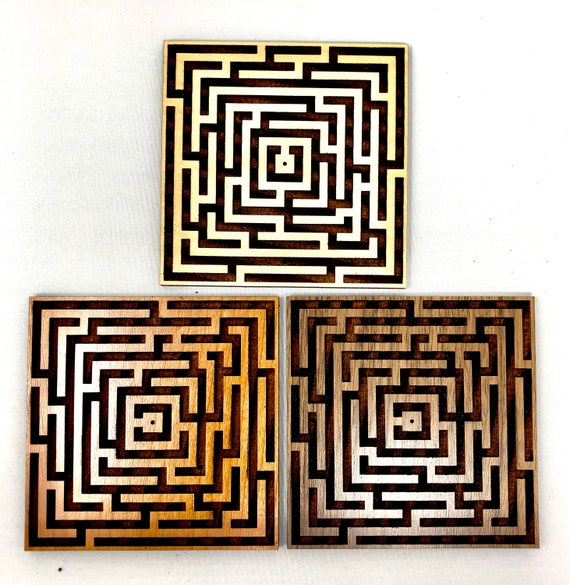 Labyrinth Maze Square Incense Holder, FREE SHIPPING