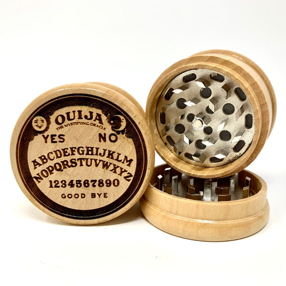 Ouija Board Design - Herb Grinder Weed Grinders Tobacco Spices 3 piece all wood set with sharp blades and sieve FREE SHIPPING