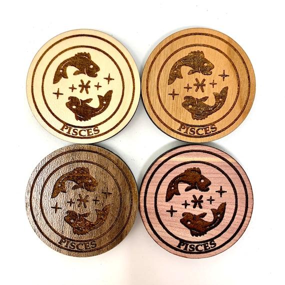 Fridge Magnet - Pisces Astrology Star Sign Astrological Zodiac Symbols Strong Heavy Refrigerator Magnets for Home KitchenArt