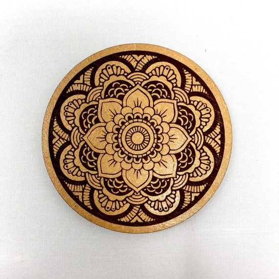 Flower Mandala Design Drink Coaster - FREE SHIPPING