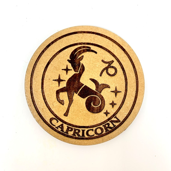 Capricorn - Astrology Star Sign - Drink Coaster Set, FREE SHIPPING