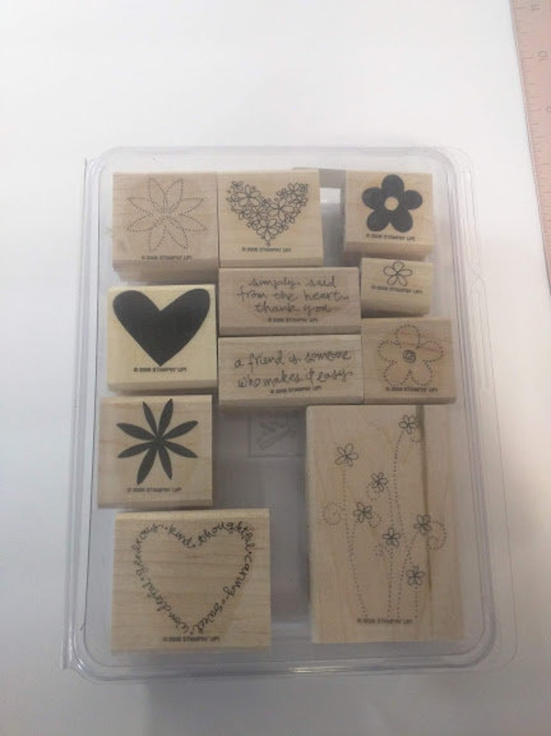 Stampin' Up Simply Said Gently Used Mounted image 0