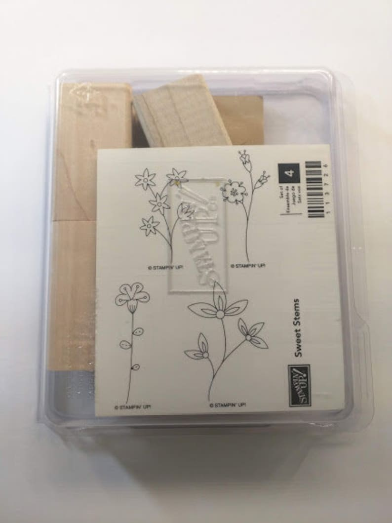 Stampin' Up Sweet Stems Unmounted Gently Used Retired image 0