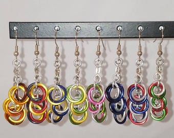 Mobius Dangle Earrings