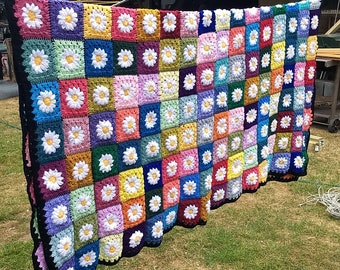 Crocheted Blanket Etsy