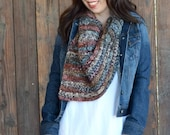 Fall Shawl Crochet Scarf PATTERN