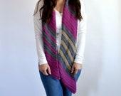Easy Diagonal Scarf Crochet PATTERN - Crochet Scarf Pattern