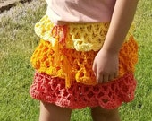 Girl's Ruffled Skirt Crochet PATTERN