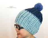 Kid's Ribbed Beanie Crochet PATTERN