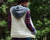 Sweater Vest Crochet PATTERN - Hooded Vest Pattern - Crochet Hooded Vest Pattern - Hooded Sweater Vest Pattern