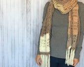 Scarf Crochet PATTERN - Oversized Crochet Scarf Pattern - Caron Cake Pattern - Easy Crochet Pattern - Beginner Crochet Pattern