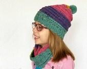 Crochet Hat and Scarf PATTERN - Beanie Crochet Pattern - Infinity Scarf Pattern - Easy Crochet Pattern - Beginner Crochet Pattern