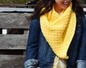 Lemon Peel Triangle Scarf Crochet PATTERN