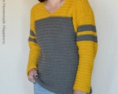 Crochet Sweater PATTERN - Crochet Top PATTERN - Pullover Sweater Pattern - Easy Crochet Pattern