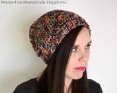 Slouchy Beanie Crochet PATTERN - Easy Crochet Pattern - Beginner Crochet Pattern - Crochet Hat Pattern