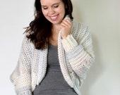 Crochet Cardigan PATTERN - Crochet Sweater Pattern - Cocoon Sweater Pattern - Sweater Cardigan Pattern