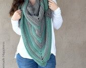 Easy All DC Triangle Scarf Crochet PATTERN