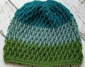 Pinetop Beanie Crochet PATTERN